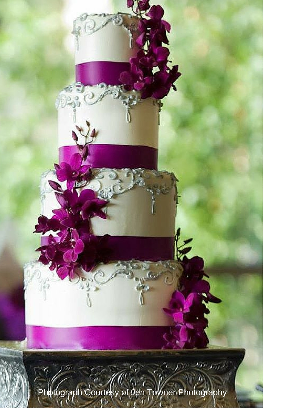 Purple Elegant Royal Wedding Cake