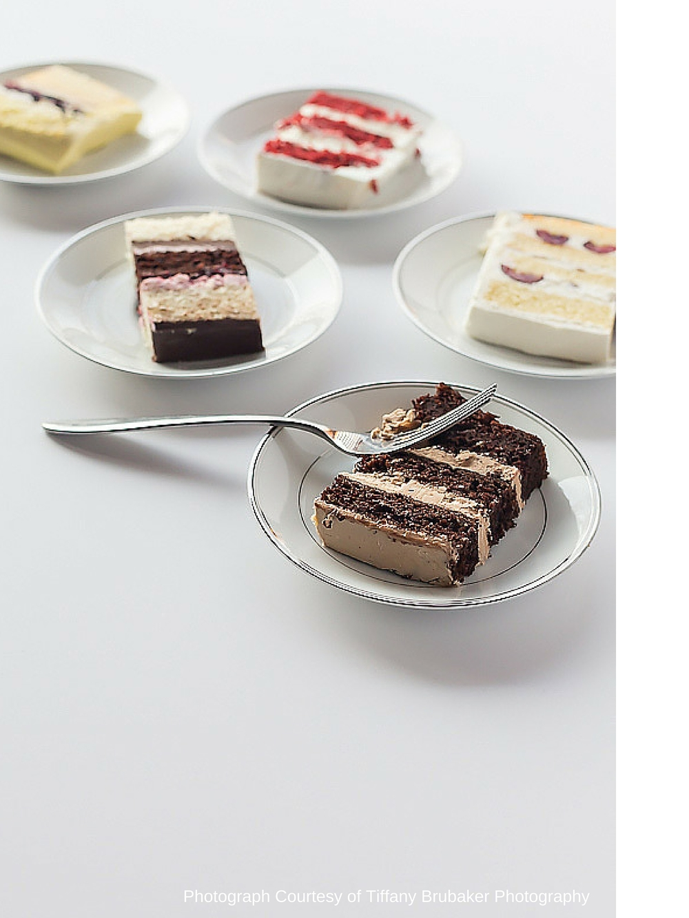 Meringue Bakery Cake Slices