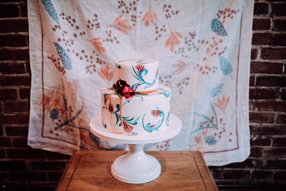 Boho Painted Cake