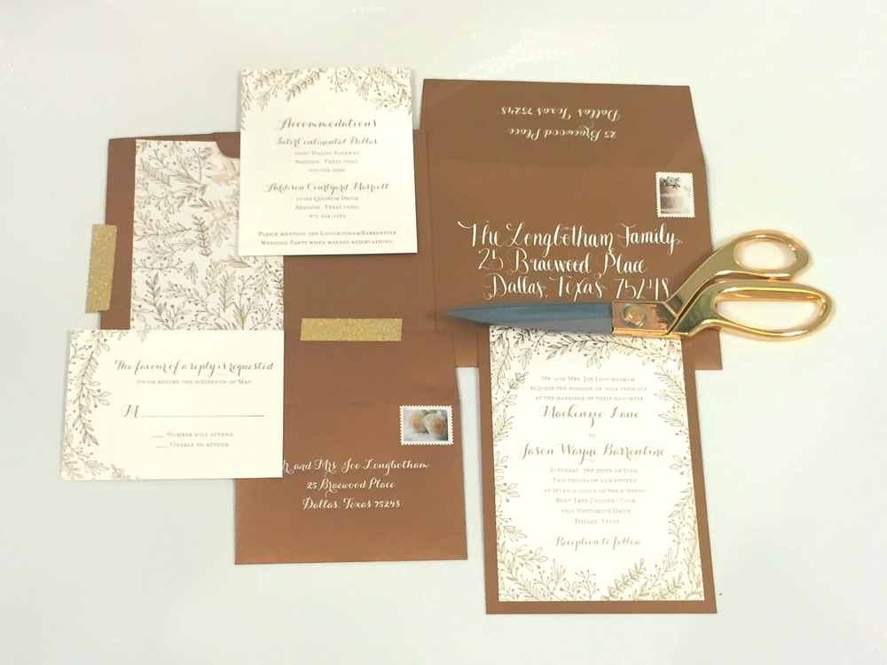 Invitations designed by Bradie Fisher