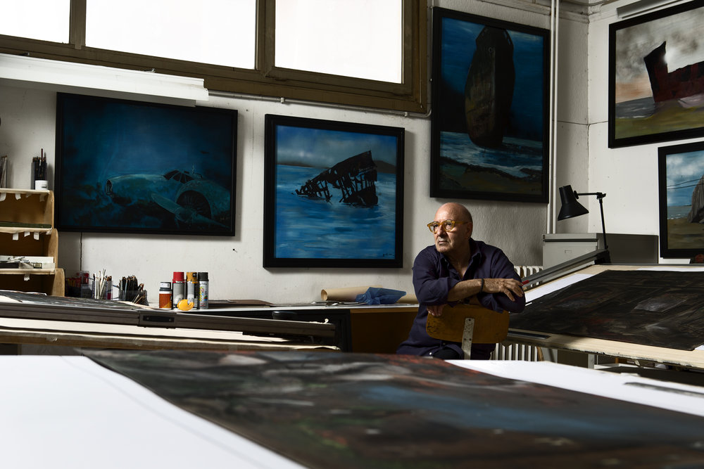 Dante Ferretti in his studio on the lot of Cinecittà Studios, located in Rome. For the New York Times Style Magazine