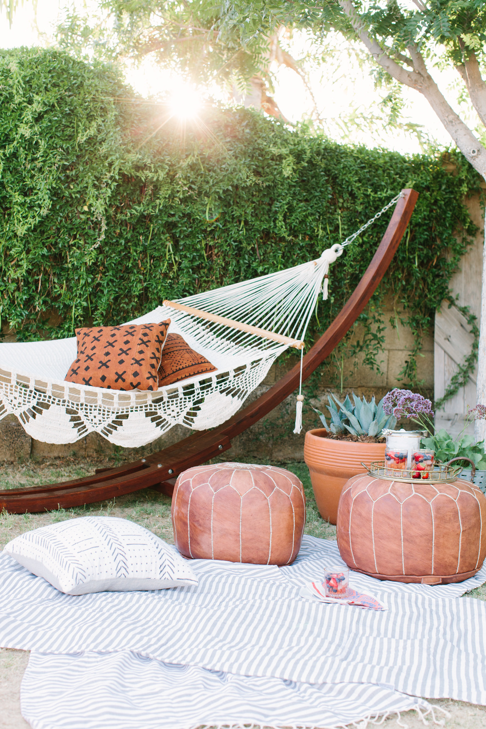 Lindsey's backyard is amazing! This hammock looks so dreamy!