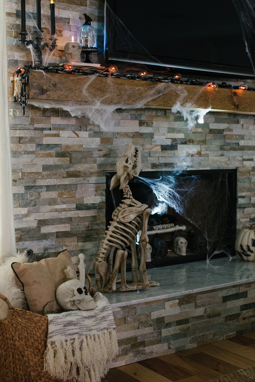 Home depot style challenge reveal ave styles for Home depot halloween decorations 2016
