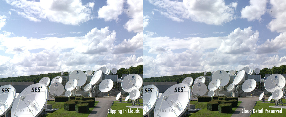 In HDR the contrast in clouds is much more significant than in SDR, and the clipping in the clouds hurts the realism of the scene