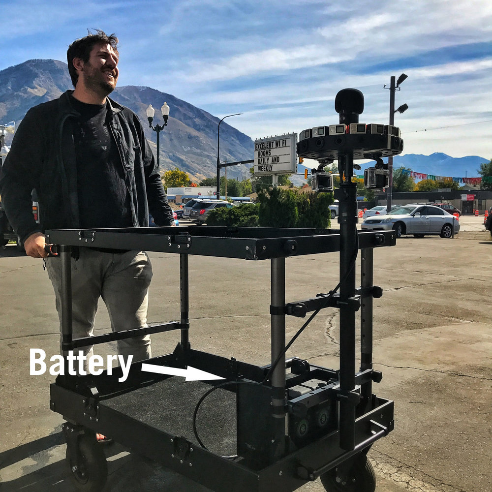 Odyssey's battery hidden below the rig - notice the size!