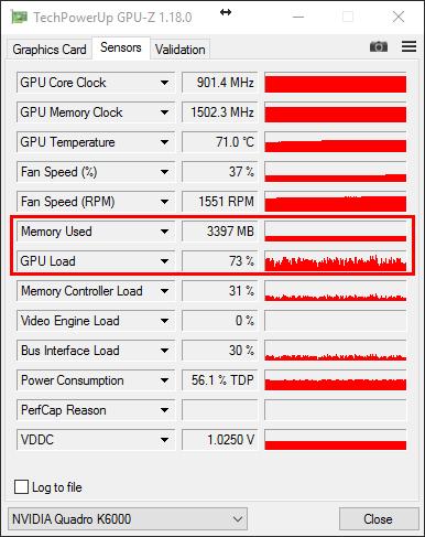 GPU-Z Showing single GPU use under Load