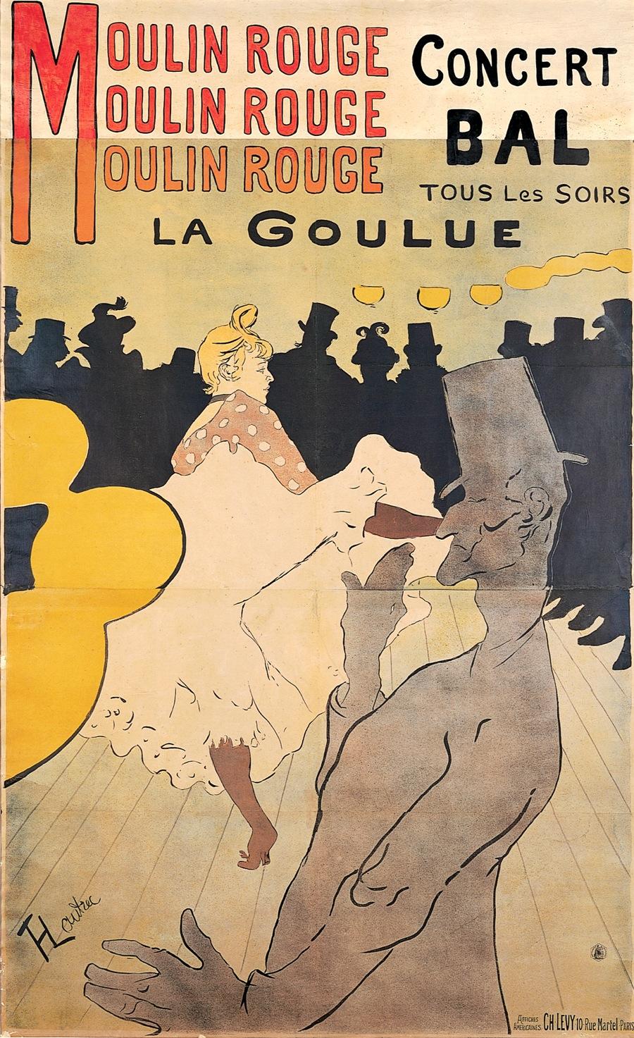Art Nouveau Henri deToulouse-Lautrec, 1891