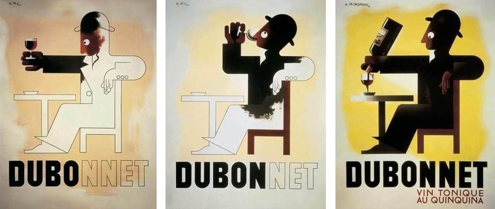 A.M. Cassandre,DuboDubonDubonnet,Colour Poster Lithograph,1932, (44.5×115.6 cm)