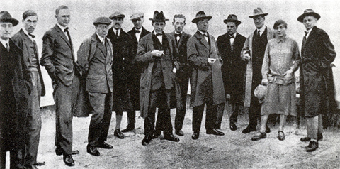Bauhaus Faculty, (far right) Oskar Schlemmer