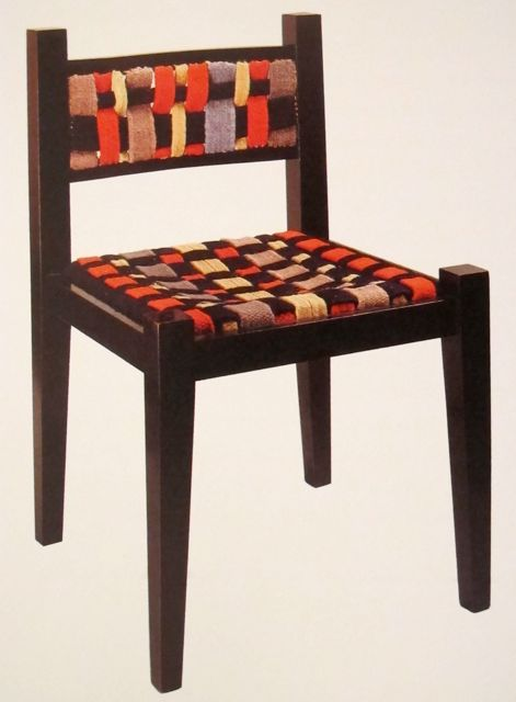 Chair by Marcel Breuer Woven band cover by Gunta Stölzl 1921.jpg