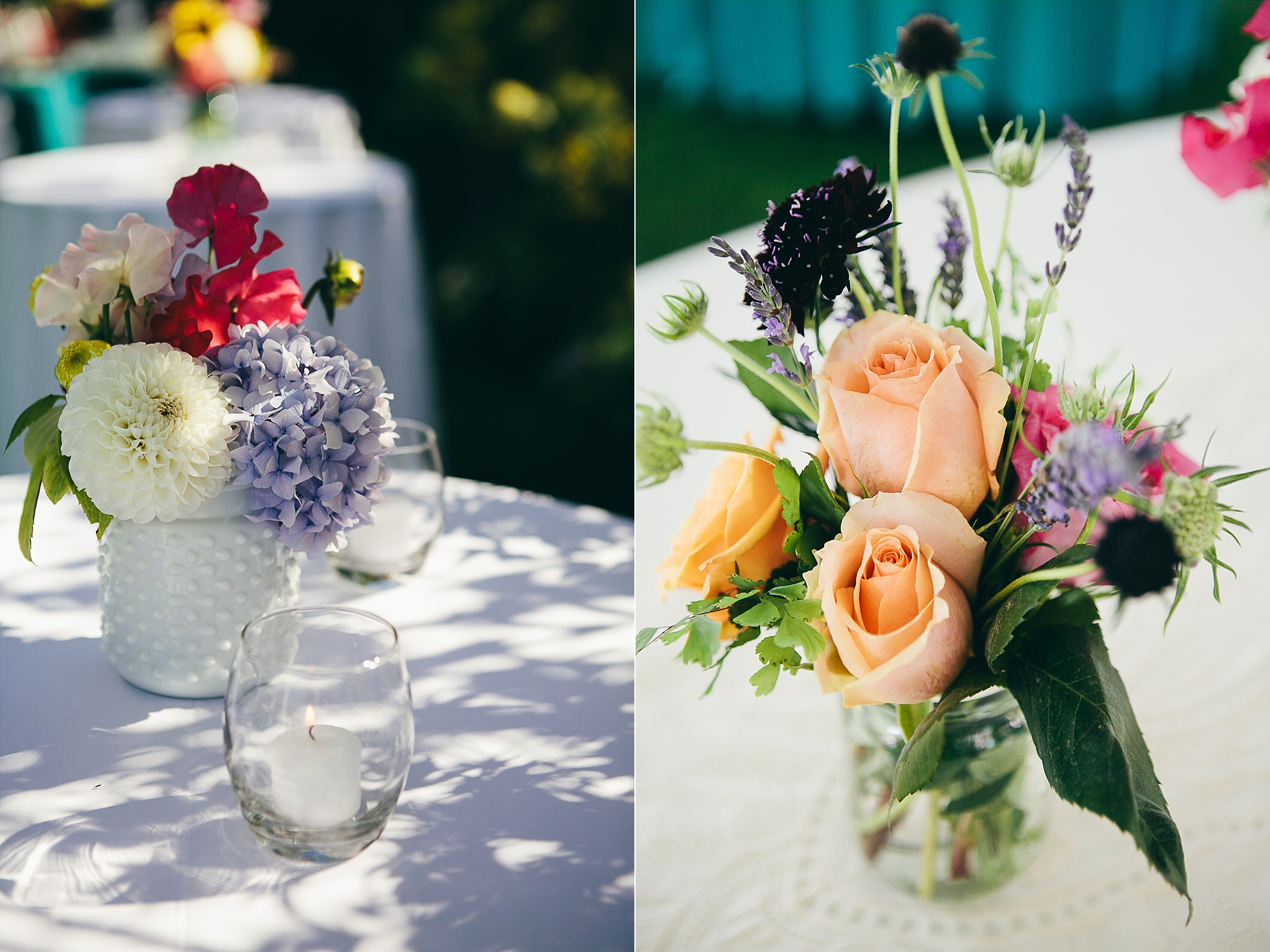 Seattle backyard wedding garden flowers