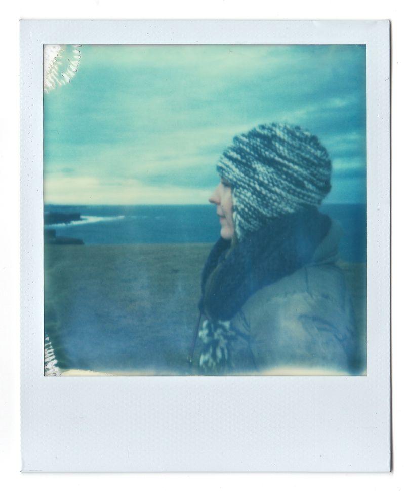 portrait of a woman in winter in Iceland