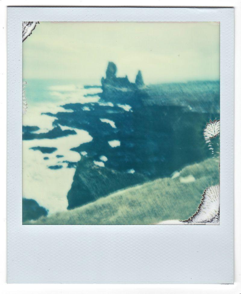 blurry icelandic coast