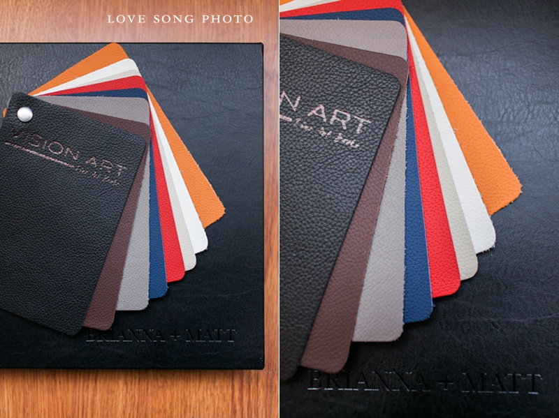 leather visionart wedding album