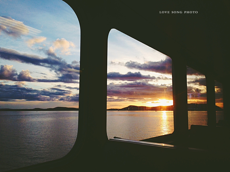 san juan islands ferry sunset