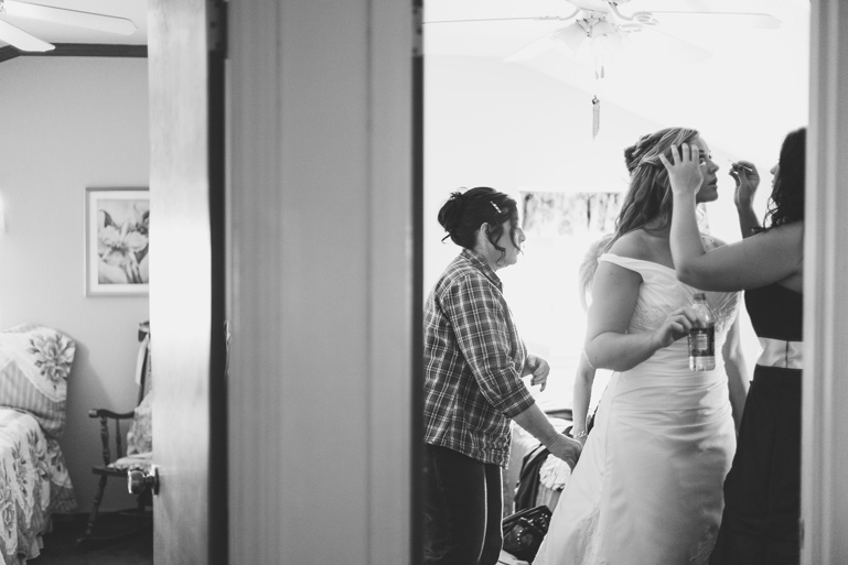 paso robles bride prepares to walk down the aisle