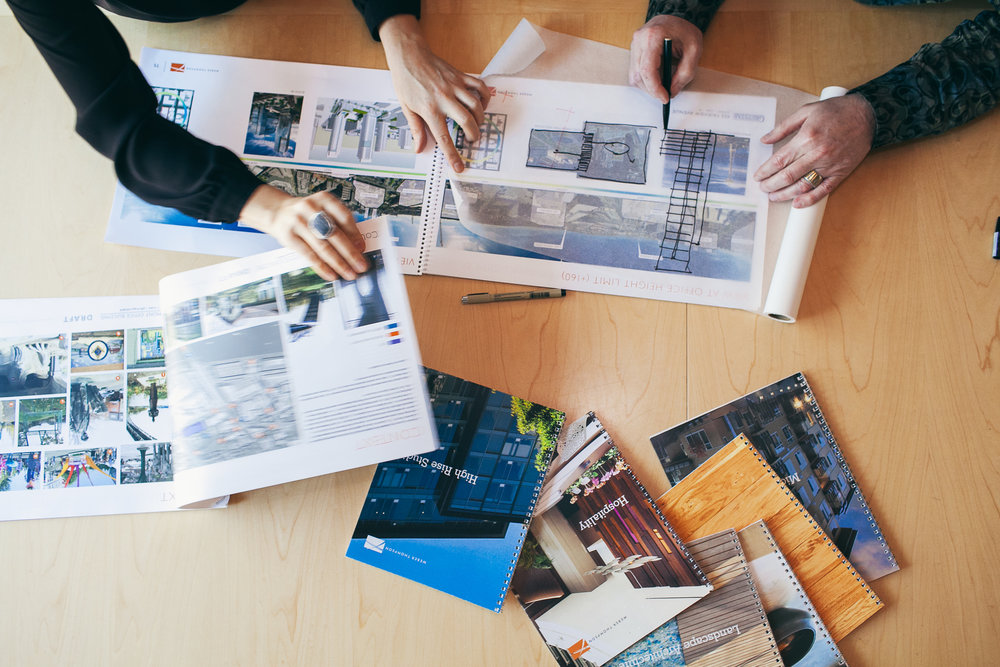 Lifestyle architectural team shoot for  Weber Thompson .