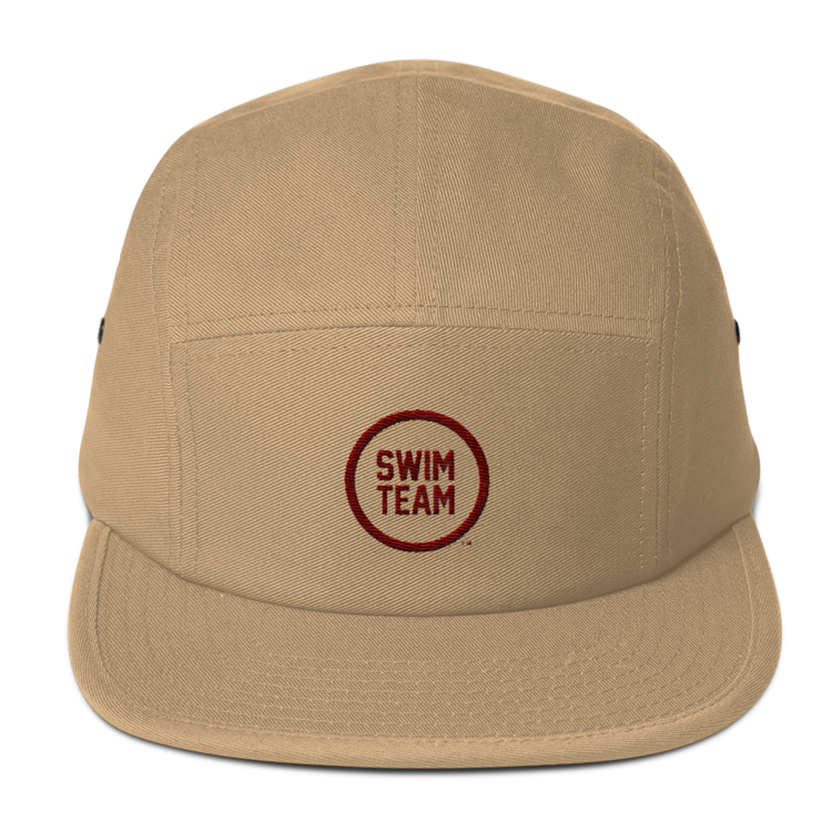 Khaki 5 Panel Hat — Swim Team 9b6907dc43a