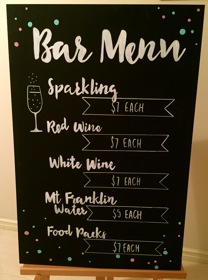 Bar Menu Chalkboard