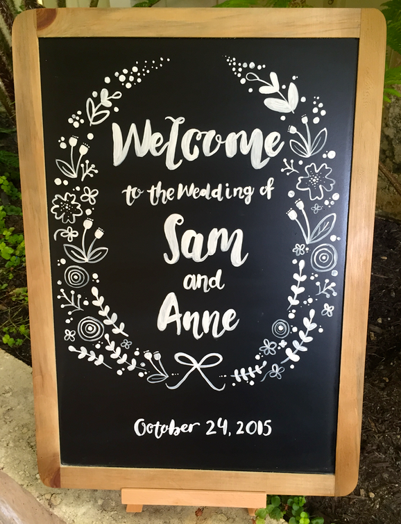 Anne + Sam's Welcome Board