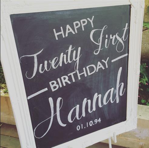 Hannah's 21st Birthday