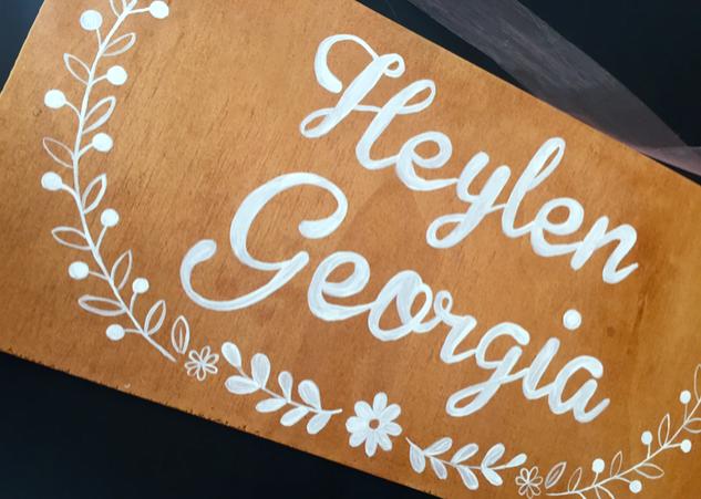 Bedroom Door Sign for little Heylen