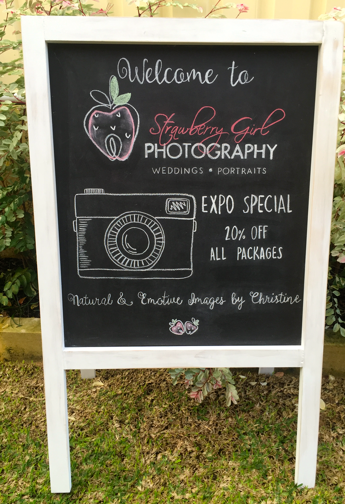 Strawberry Girl Photography Expo Board