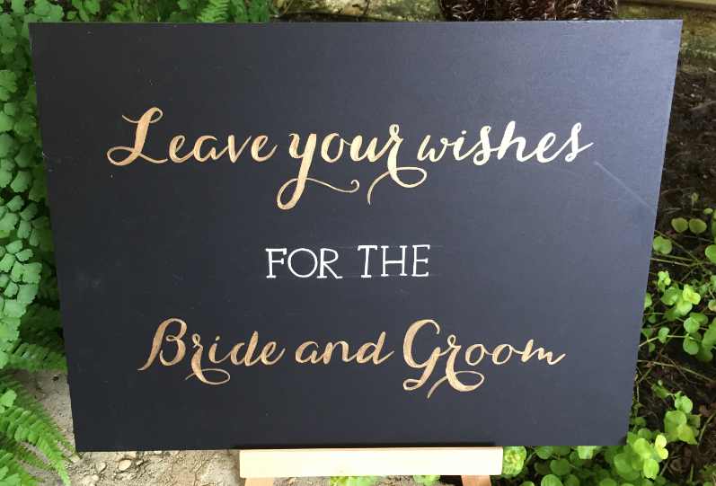 Bride and Groom Gift Sign