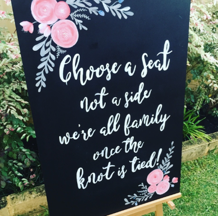 Christine and Paul's Wedding Signage