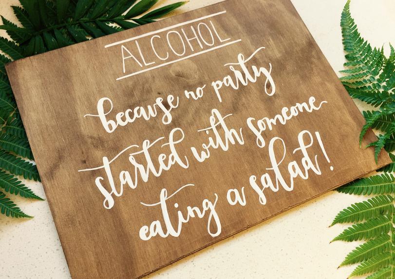Walnut Alcohol Event Signage
