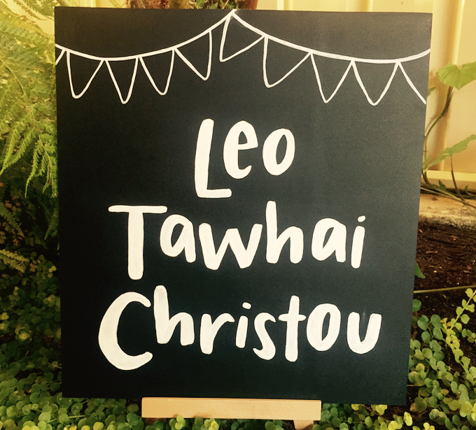 Little Leo's Christening Sign