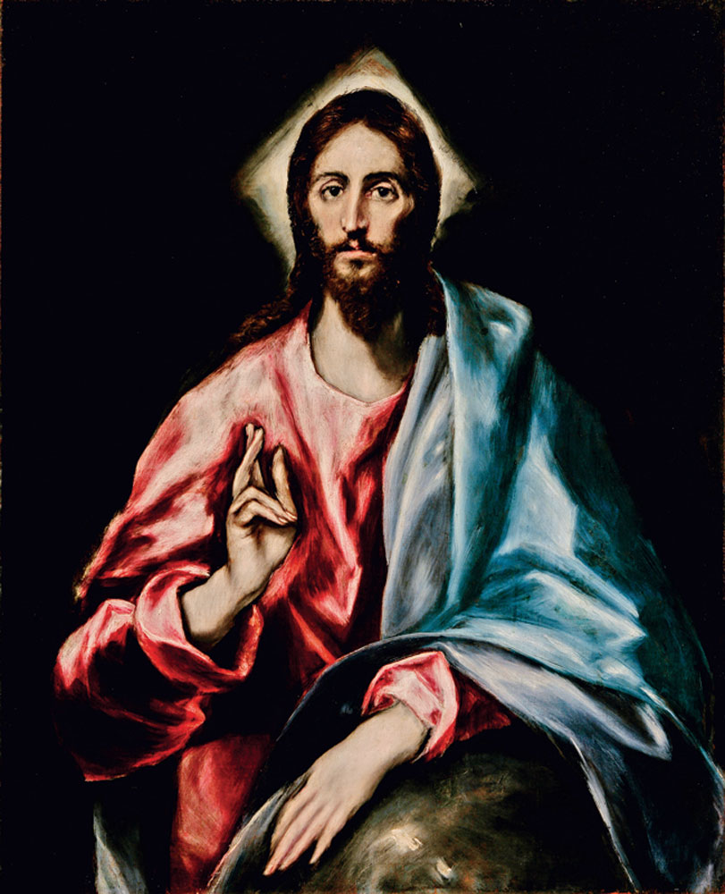 THE SAVIOR by El Greco, from the Apostles series, Toledo, Spain, circa 1608-1614.  Photograph by Tomas Antelo, Instituto del Patrimonio Cultural de España .