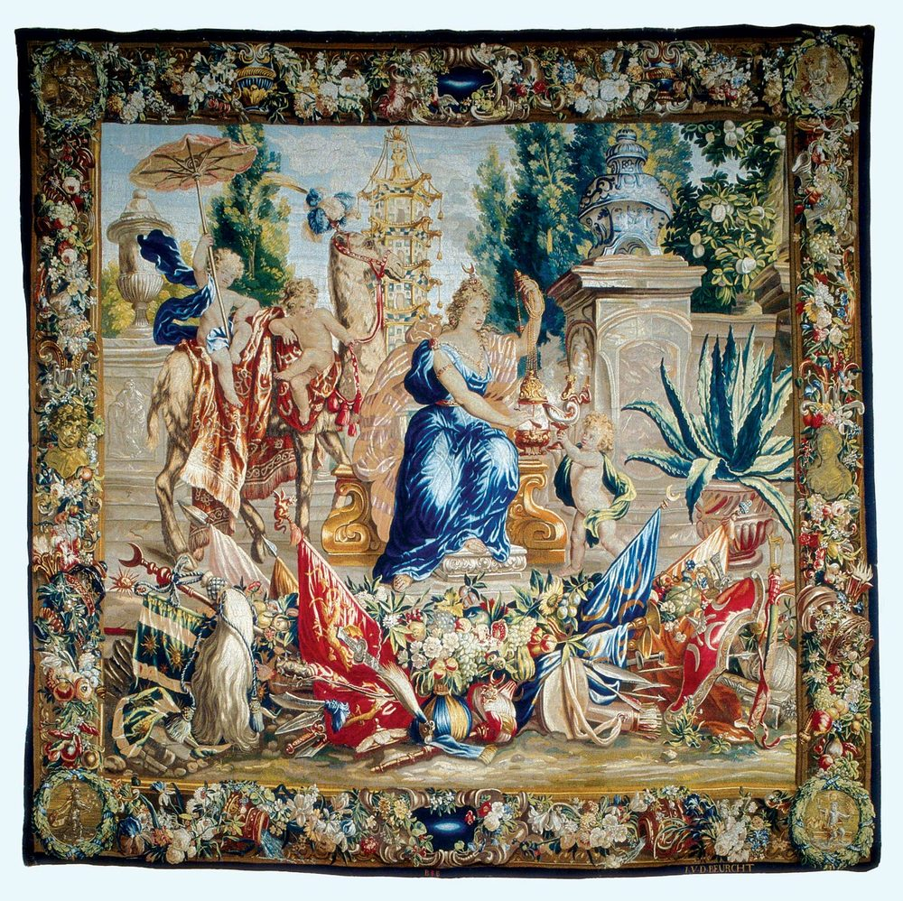 FLEMISH WOOL TAPESTRY OF ASIA by Jacob van der Borcht, late seventeenth century.  Gift of the Hearst Foundation, Inc.