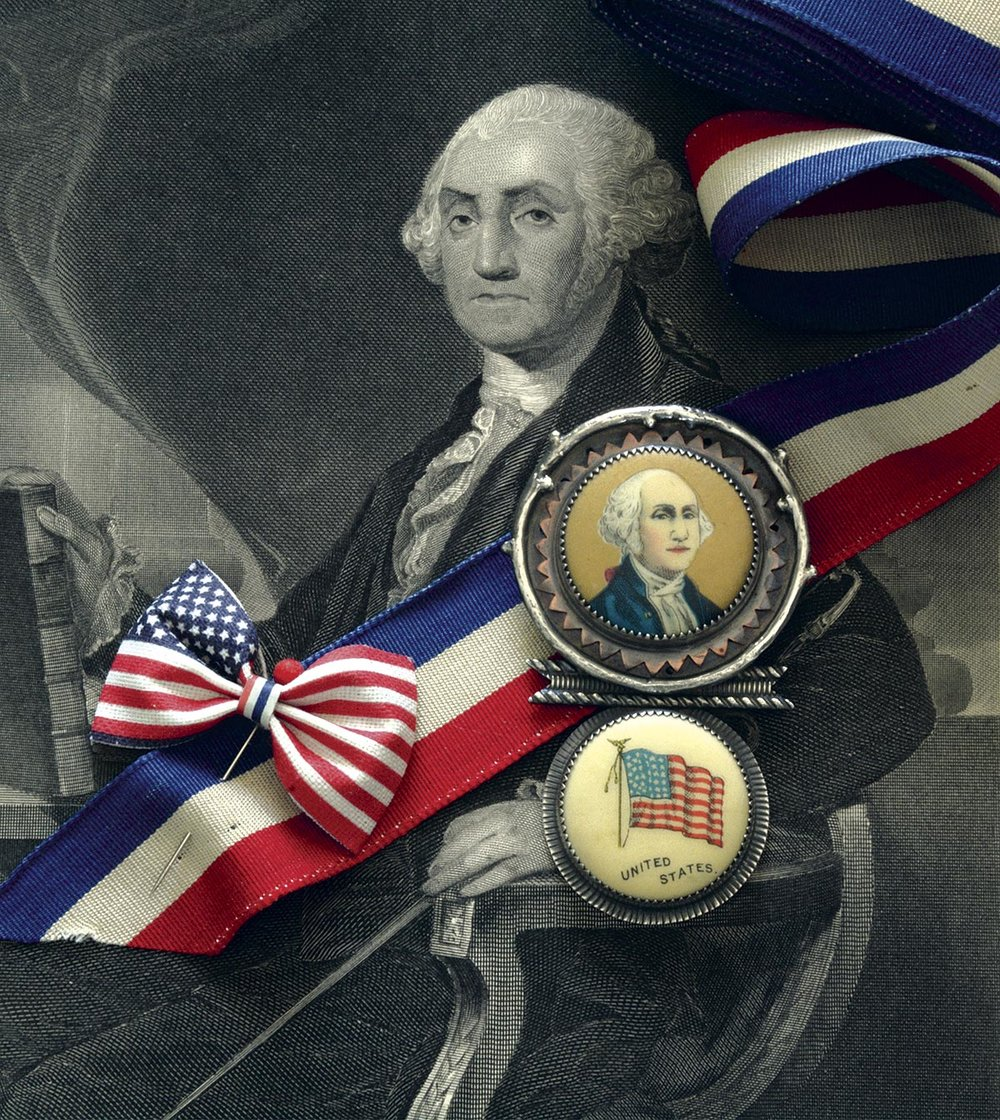 GEORGE WASHINGTON BROOCH by Roberta and David Williamson, 2016.
