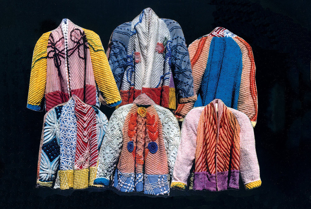 "MARILYN WOLF JACKETS FLYER, ""Jackets fashioned from vintage chenille,"" circa 1997.  Marilyn Wolf Designs, collection of the artist."