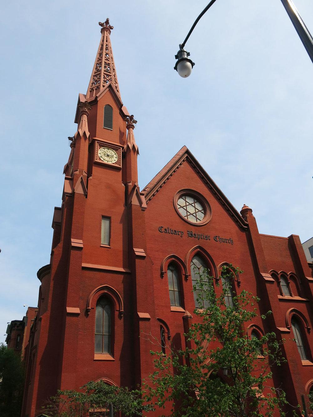 The very beautiful Calvary Baptist Church, in Chinatown, Washington D.C.