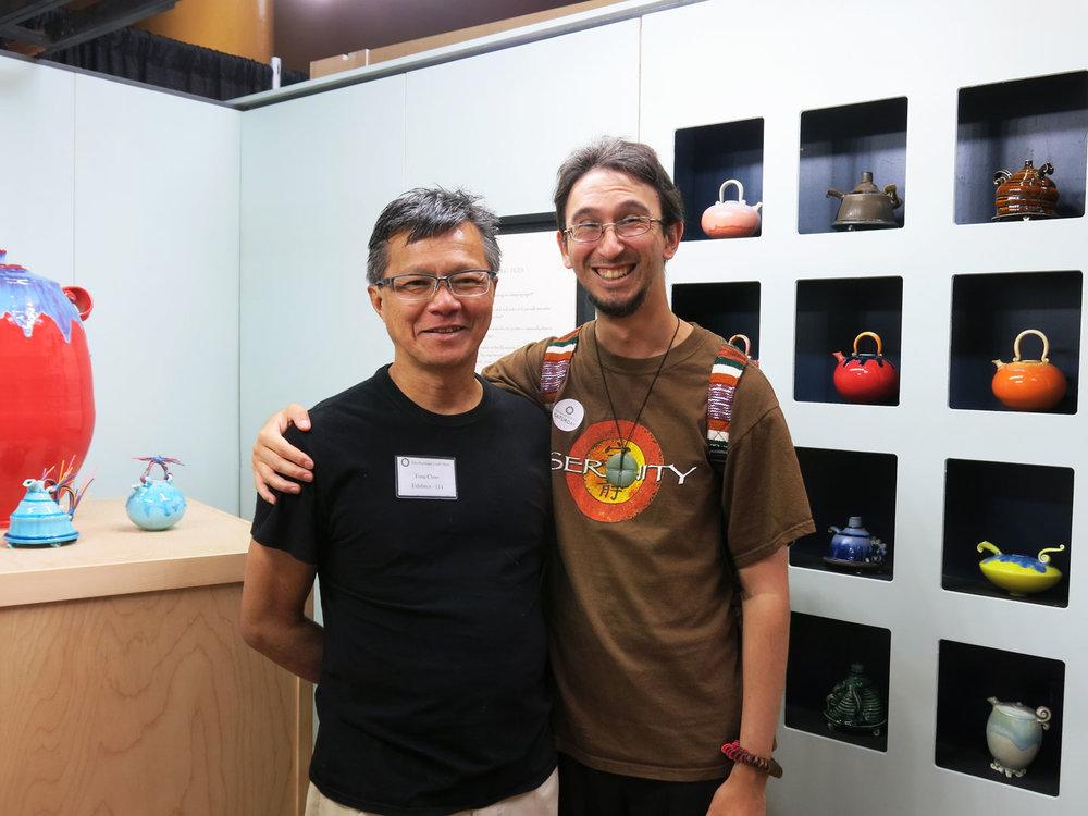 The man himself, Fong Choo, with Associate Editor Patrick Benesh-Liu.