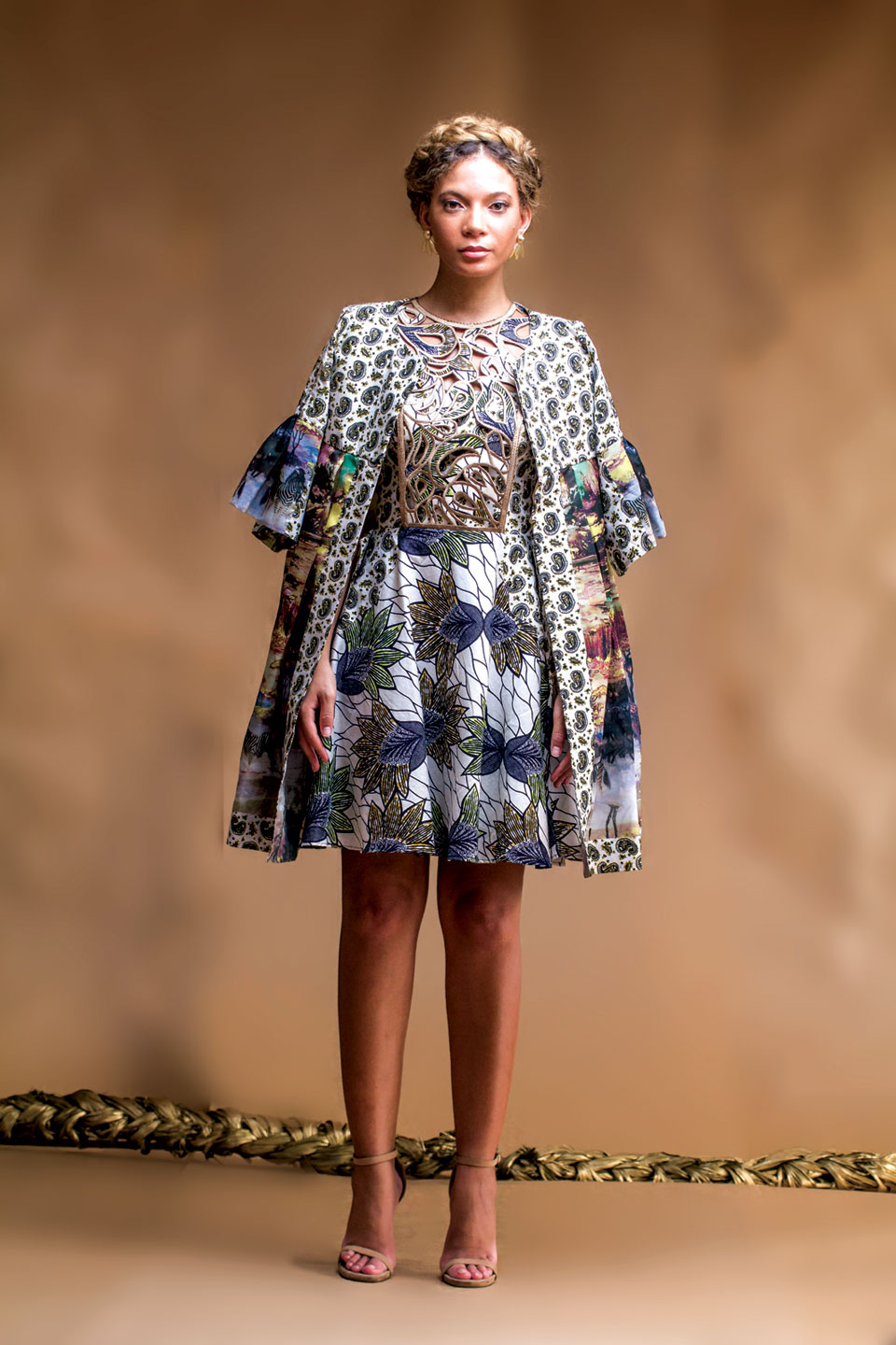 ENSEMBLE by Christie Brown of cotton, synthetic, Spring 2016, Ghana.