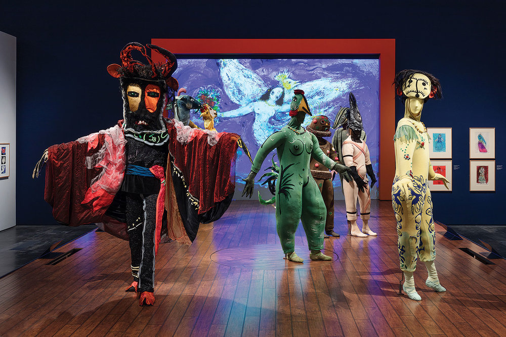 "LOS ANGELES COUNTY MUSEUM OF ART INSTALLATION for ""Chagall: Fantasies for the Stage.""  Photograph by Fredrik Nilsen."