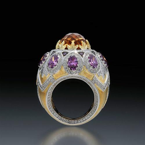 a5beb1f07 ARTURO SANFELIX GARCIA. Passarola Ring of Argentium® Silver, yellow and  white gold,