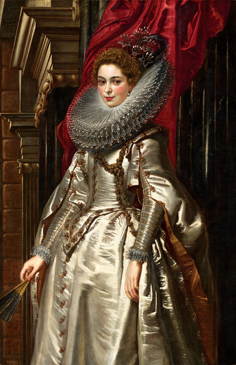 MARCHESA BRIGIDA SPINOLA DORIA by Peter Paul Rubens, Flemish, of oil on canvas, 1606.  Samuel H. Kress Collection. Courtesy of the National Gallery of Art.
