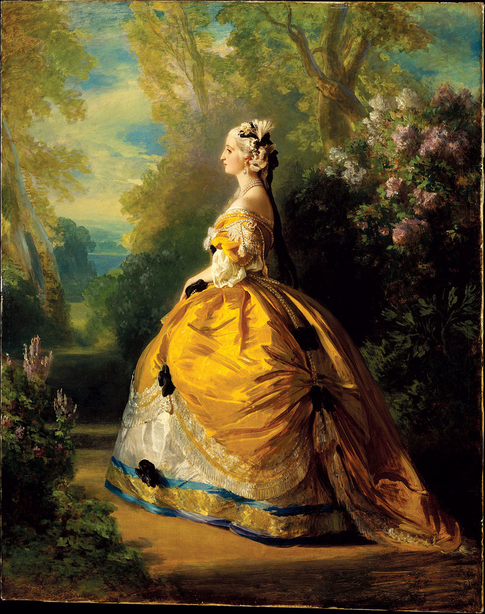 THE EMPRESS EUGÉNIE by Franz Xaver Winterhalter, German, of oil on canvas, 1854.  Mr. and Mrs.   Claus von Bülow Gift. Courtesy of the Metropolitan Museum of Art.