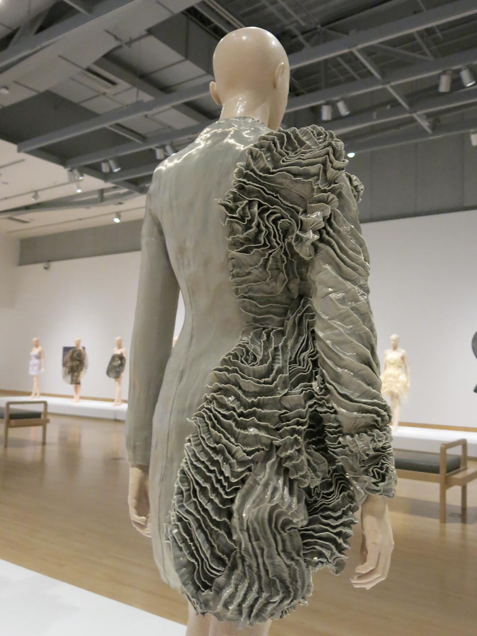 IRIS VAN HERPEN:  ESCAPISM COAT from 2011 collection of metal satin and fabric.  Photograph by Patrick R. Benesh-Liu.