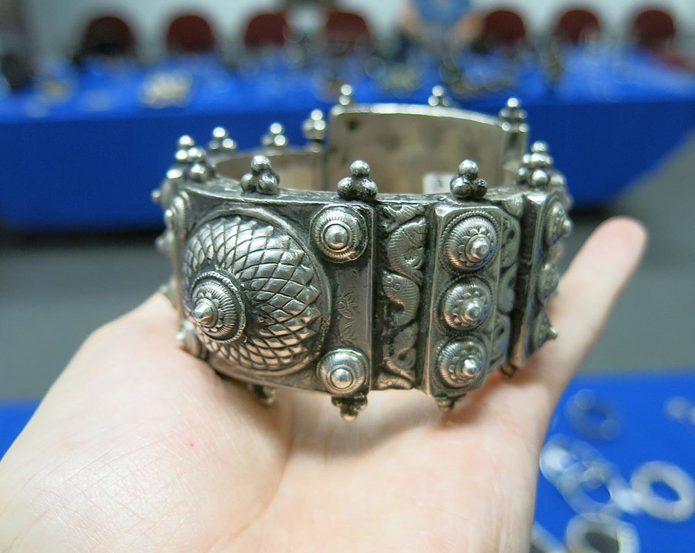 Antique silver bracelet.