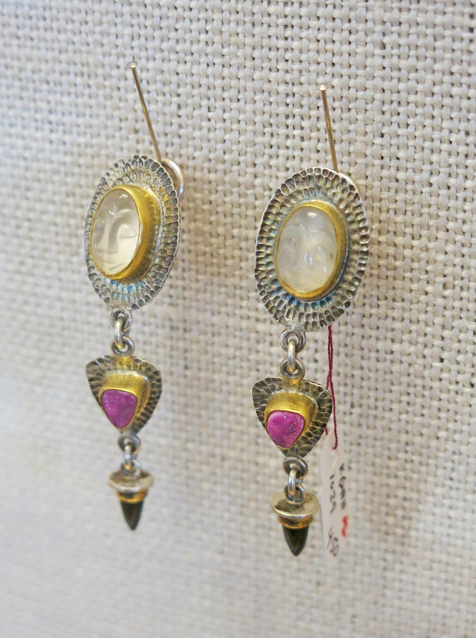 Earrings by Kathlean Gahagan.