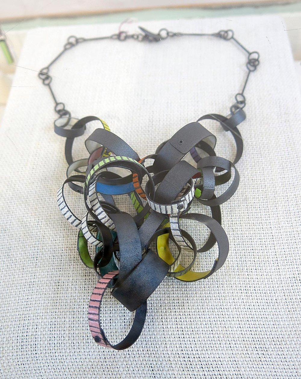 Necklace by Mary Filapek and Lou Ann Townsend.