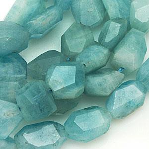 Aquamarine beads. CW