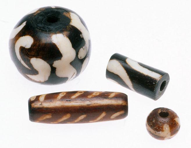 African and Indian batik bone beads. RKL