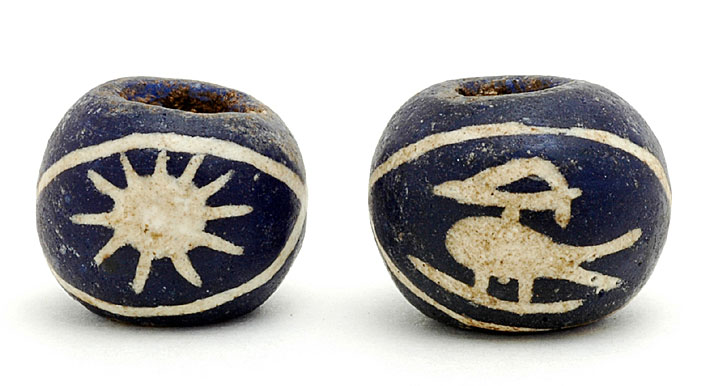 Replica bird beads from Indonesia. CW