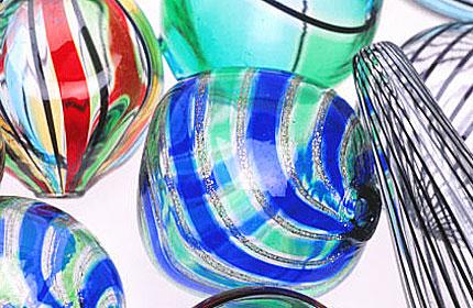 Contemporary Venetian blown glass beads. RKL